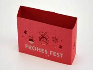 Banderole rot frohes fest